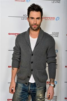 This may be Adam Levine's studious good boy look, but it's not stopping us from wanting to rip that sweater off him ...