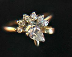 18ct Genuine Diamonds 'Peacock' Ring Valuation 2300 by MagicalGaia