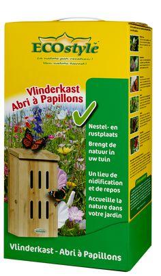 Een leuk cadeau! Een vlinderkast voor meer vlinders en vooral meer biodiversiteit in de tuin! #ECOstyle #vlinders #Vlinderkast #biodiversiteit