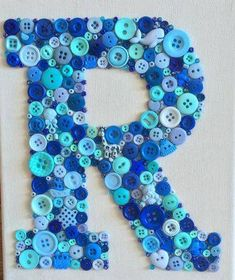 Letter R in buttons
