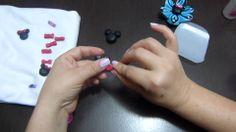 apliques de minnie mouse en porcelanicron   o masa flexible