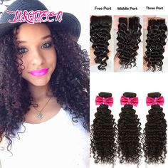 6A Virgin Brazilian Deep Wave With Closure Remy Queen Hair Closures Brizilian Hair With Closure Brazilian 3 Bundles With Closure-in Human Hair Weft with Closure from Health & Beauty on Aliexpress.com | Alibaba Group