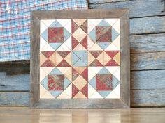 wooden cross quilt block  americana barn by IlluminativeHarvest