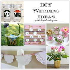 Wedding Ideas you can make featuring the hottest color trend for weddings: pink and gold. #weddings #diyweddings
