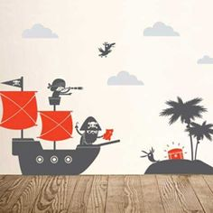 Pirates Large Wall Decal for kids