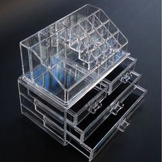 Cosmetics Acrylic Clear Case Storage Insert Holder Box New