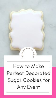 Sugar Cookies To Decorate, Sugar Cookies For Decorating, Cookie Decorating Party, Easy Sugar Cookies, Christmas Sugar Cookies, How To Make Cookies, Decorated Cookies, Royal Icing For Cookies, Sugar Cookie Recipe With Royal Icing