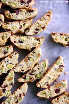 Cranberry Pistachio Biscotti - I made these today....June 22/13...and they came out so well that my friend thought I bought them in the store....these were VERY easy to make and taste absolutely DELICIOUS..this will be my go to biscotti recipe...but I will try other flavours.  (Josie Munro)...these will make a terrific gift...wrapped up with a nice bow!!!