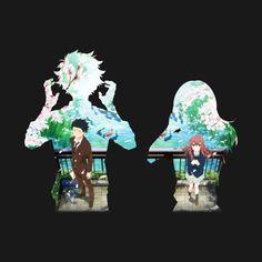Anime Check out this awesome 'Koe no Katachi' design on Kawaii Anime, Anime Ai, Film Anime, Sad Anime, Koe No Katachi Anime, Ghibli, A Silence Voice, A Silent Voice Anime, Anime Triste