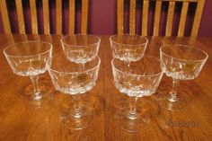 MINT Set Of Six Vintage Cristal D'Arques St. Germain Crystal Champagne Sherbet