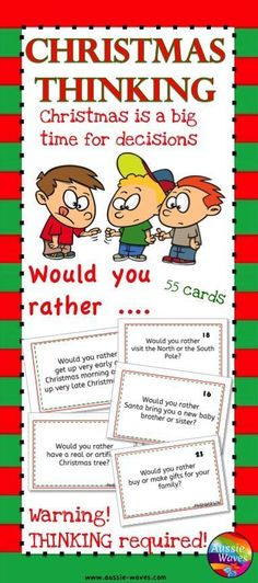 Would you rather ...? All about Christmas decisions! Buy this or make you own?