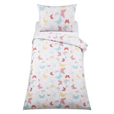 Buy little home at John Lewis Little Fairy Butterflies Duvet Cover and Pillowcase Set, Double Online at johnlewis.com