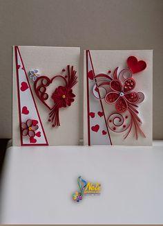 neli: Small quilling cards /7.5 cm-5.2 cm/