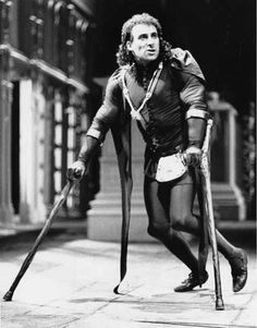 Richard III  When Antony Sher played the role in 1984 for the Royal Shakespeare Company he wore a tight-fitting black costume and wielded a pair of crutches to help him move across the stage at lightning speed. He was the malevolent spider personified.