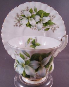 Vintage Royal Albert Trillium Bone China Tea Cup and Saucer - England