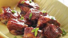 Five Spice Honey Riblets. Enjoy your dinner with these pork ribs flavored with soy and hoisin sauce – perfect if you love Asian cuisine. Pork Recipes, Asian Recipes, Cooking Recipes, Healthy Recipes, Ethnic Recipes, Copycat Recipes, Honey Recipes, Asian Foods, Chinese Recipes