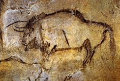 Bisão do Salão Negro - Arte paleolítica, Gruta de Niaux, França.