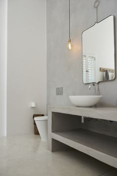 Top 4 Design Trends for 2017 with Cemcrete - Easy Living - a gentle and relaxed look using mostly white on white finishes with accents of wood and other raw materials such as concrete flooring.