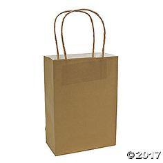 Medium Gold Kraft Paper Bags