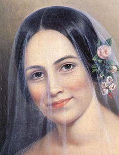 femalebeautyinart:  Veil of Mystery(detail) by Sarah Miriam Peale, 1830