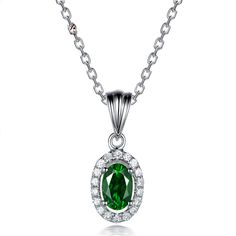 Beautiful 0.58ct Natural Green Tsavorite in 18K Gold Pendant by CHARMES Jewellery