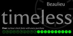Beaulieu is a dingbat and sans serif font family. This typeface has fourteen styles and was published by Aviation Partners. 24 Hour Clock, Online Fonts, Poster Fonts, Sans Serif Fonts, Font Family, Cool Fonts, Graphic Design Inspiration, Logos, Desktop