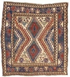 A Bordjalou Kazak rug, Southwest Caucasus,  approximately 6ft. 6in. by 5ft. 10in. (1.98 by 1.78m.), first half 19th century