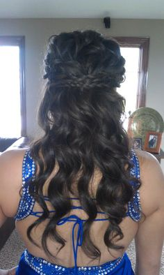 "Get the look of this cool prom hair with the 23"" Wavy Extension by Hairdo and get 2 of the Long  Clip In Braid by Put On Pieces get them at www.ultimatelooks.com"