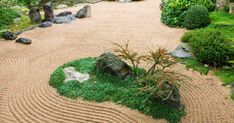Experts explain how to approach cultivating a peaceful zen garden using gravel, plants and more. Gravel Garden, Garden Beds, Garden Landscaping, Japanese Rock Garden, Japanese Garden Design, Chicago Botanic Garden, Zen Master, Big Leaves, Landscape Fabric