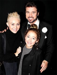 Billy Ray Cyrus with daughters Miley and Noah