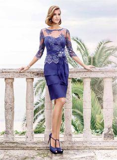 Eddy k evening dress blue