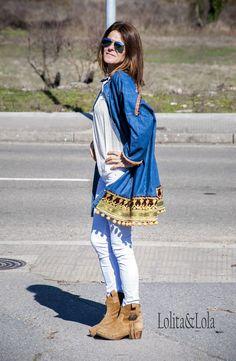 camisola boho chic moda denim LolitayLola