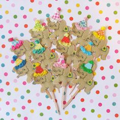 Paper Elephants on Parade Cupcake Toppers by PartyPopPop.etsy.com