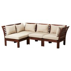 great for the front porch, if I add some colored throws or pillows  ÄPPLARÖ Sofa combination - IKEA