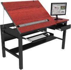 "Freedom Drafting Table 72""x36"" - Black Frame, Cherry Surface Versa Drafting Tables,http://www.amazon.com/dp/B002GON7W6/ref=cm_sw_r_pi_dp_RxZ2sb14V01HRJXG"