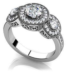 Perfect Three Diamond Anniversary Ring