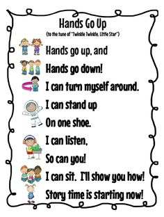 DOMAIN: TRANSITIONS I really like transition songs for toddlers. Toddlers tend to be able to remember songs rather quickly and sometimes as soon as you start singing they will begin to do what ever the song is about. Kindergarten Songs, Preschool Songs, Kids Songs, Kindergarten Classroom, Songs For Preschoolers, Welcome To Preschool, Action Songs For Toddlers, Songs For Babies, Spring Songs For Preschool