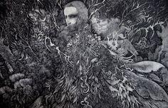 Juxtapoz Magazine - Intricate Etchings by Ikuma Nao