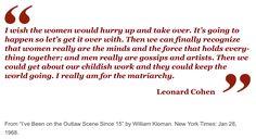 Leonard Cohen on the matriarchy