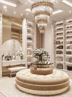Modern Bedroom Design, Home Room Design, Dream Home Design, Home Interior Design, House Design, Modern Luxury Bedroom, Dressing Room Design, Luxury Closet, Closet Designs
