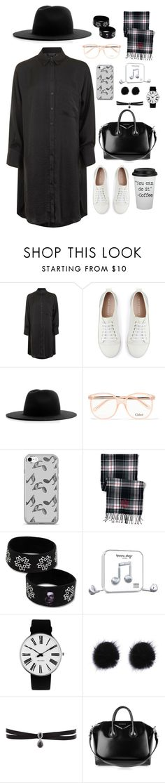 """""""Без названия #114"""" by diankounicorn ❤ liked on Polyvore featuring Topshop, Mint Velvet, Études, Chloé, Music Notes, Lands' End, Happy Plugs, Rosendahl, Fallon and Givenchy"""