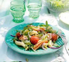 Pittige pastasalade met zalm en rucola - Recept - Jumbo Supermarkten