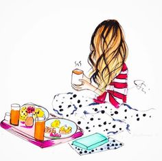 Risultati immagini per delphine soucail Jamel, Illustration Girl, Girl Illustrations, Happy Girls, Fashion Sketches, Cute Wallpapers, Cute Drawings, Fashion Art, Doodles