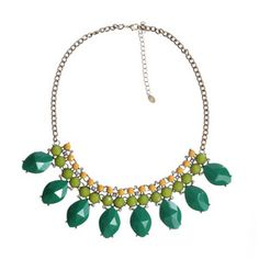 Avery Necklace Green, $40, now featured on Fab.