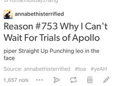 Trials of Apollo excerpt