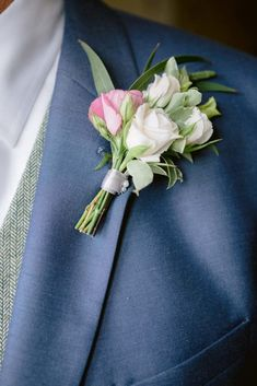 grooms button hole with pale pink roses perfect for Joanna & Robert's rustic barn wedding at Wick Farm in Bath. Image by Jennifer Jane Photography. Pale Pink, Pink Roses, Wedding Buttonholes, Button Holes Wedding, Rustic Wedding Inspiration, Farm Barn, Groom Wear, Blog Images, Rustic Barn