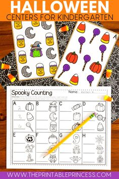Make counting fun this fall with these easy to print and use math worksheets! Kindergarten students will love mastering their counting and cardinality skills with these halloween themed printables. Use them in centers or as a count around the room activity! Happy Halloween!