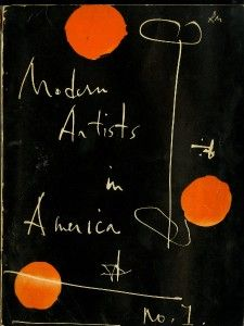 Modern Artists in America edited by Robert Motherwell and Ad Reinhardt