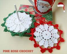 PINK ROSE CROCHET: Coaster