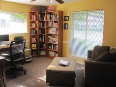 My new (as of August!) writing space. I love how light and bright it is.